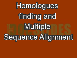 Homologues finding and Multiple Sequence Alignment