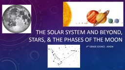 The Solar System and Beyond, Stars, & the phases of the