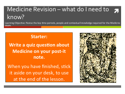 Medicine Revision – what do I need to know?