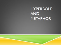 Hyperbole and metaphor PowerPoint PPT Presentation