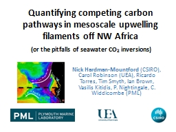 Quantifying competing carbon pathways in mesoscale upwellin