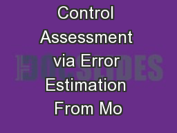 DTI Quality Control Assessment via Error Estimation From Mo