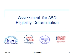 Assessment for ASD