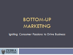 Bottom-Up Marketing