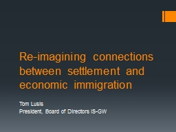 Re-imagining connections between settlement and economic im