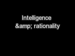 Intelligence & rationality