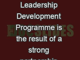 Executive Education The INSEADUnilever Four Acres Consortium Womens Leadership Development Programme is the result of a strong partnership between INSEAD and Unilever  both world leaders in their resp