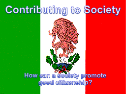 Contributing to Society