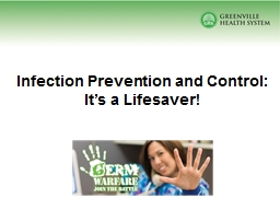 Infection Prevention and Control: