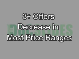 3+ Offers Decrease in Most Price Ranges