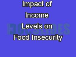 Impact of Income Levels on Food Insecurity PowerPoint PPT Presentation