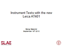 Instrument Tests with the new