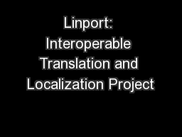 Linport: Interoperable Translation and Localization Project