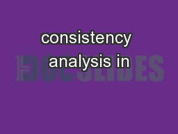 consistency analysis in