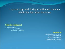 Layered Approach Using Conditional Random Fields For Intrus