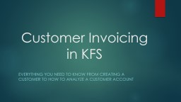 Customer Invoicing in KFS