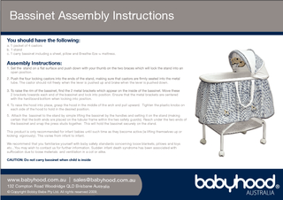 Bassinet Assembly Instructions ww PowerPoint PPT Presentation