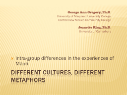 Different cultures, different metaphors PowerPoint PPT Presentation