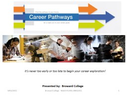 It's never too early or too late to begin your career exp