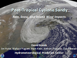 Post-Tropical Cyclone Sandy