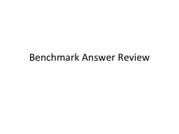 Benchmark Answer Review
