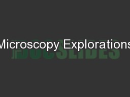 Microscopy Explorations