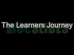 The Learners Journey