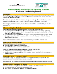 Housing Benefit and Council Tax Reduction Schemes Advi