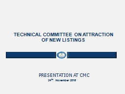TECHNICAL COMMITTEE ON ATTRACTION OF NEW LISTINGS PowerPoint PPT Presentation