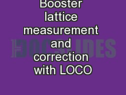 Booster lattice measurement and correction with LOCO