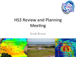 HS3 Review and Planning Meeting