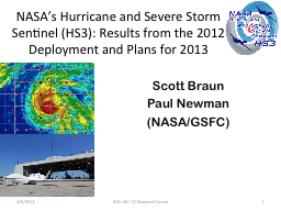 NASA's Hurricane and Severe Storm Sentinel (HS3): Results