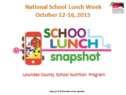Lowndes County School Nutrition Program