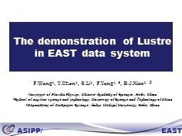 The demonstration of Lustre in EAST data system