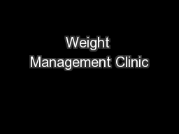 Weight Management Clinic