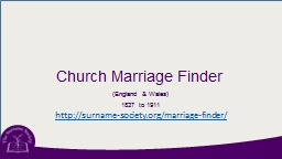 Church Marriage Finder