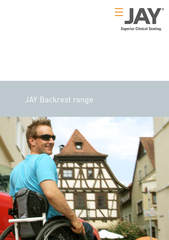 JAY Backrest range  Superior clinical eating Superior