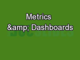 Metrics & Dashboards