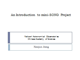 An Introduction to mini-SONG Project PowerPoint PPT Presentation