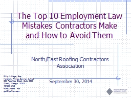 1 The Top 10 Employment Law Mistakes Contractors Make and H