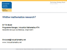 Whither mathematics research?