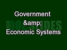 Government & Economic Systems