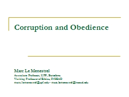 Corruption and Obedience