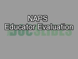NAPS Educator Evaluation