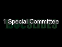1 Special Committee