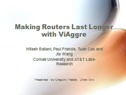 Making Routers Last Longer with ViAggre