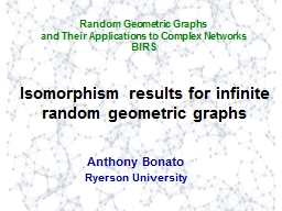 Isomorphism results for PowerPoint PPT Presentation