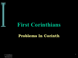 1 Corinthians Introduction