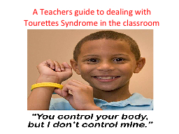 A Teachers guide to dealing with