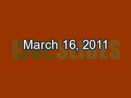 March 16, 2011